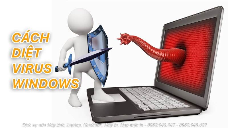 cách diệt virus windows