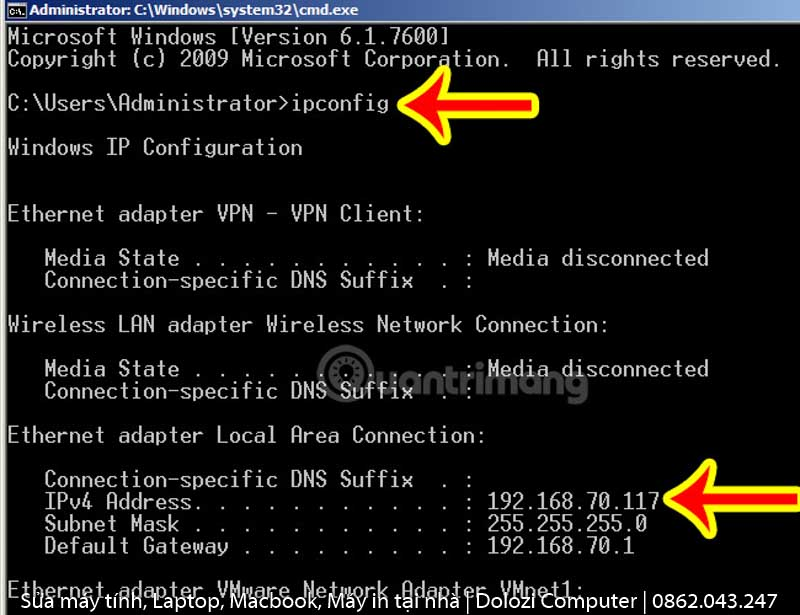 Hướng dẫn kiểm tra địa chỉ IP