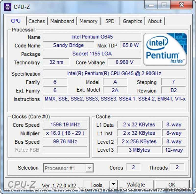 kiểm tra phần cứng bằng CPU-Z