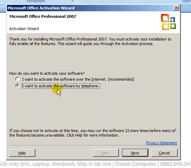 Crack phần mềm Office 2007