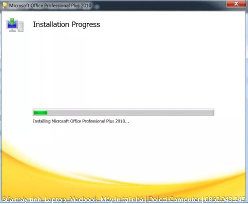 chờ phần mềm cài đặt xong