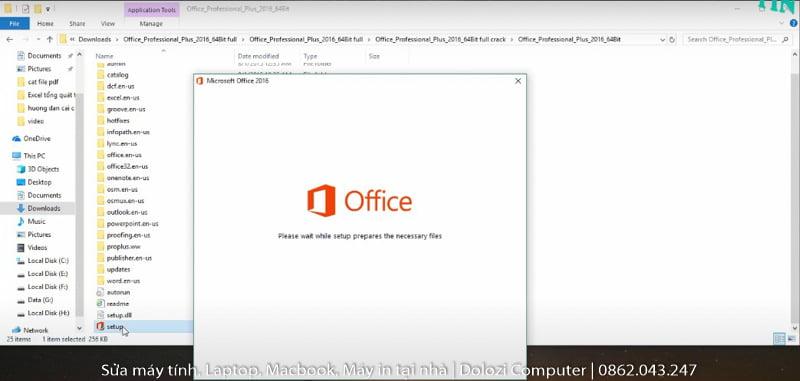 cài đặt phần mềm office 2016