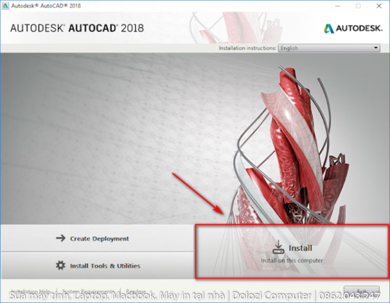 cài đặt phần mềm autocad 2018