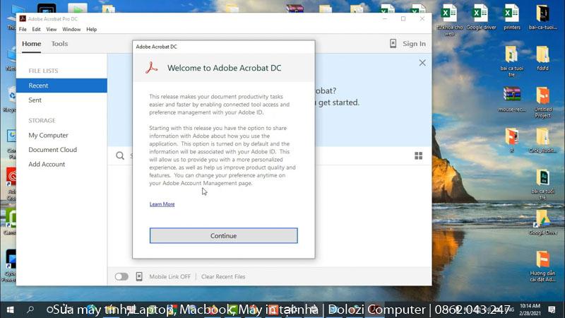 hoàn thành quá trình Crack Adobe Acrobat Pro 2020