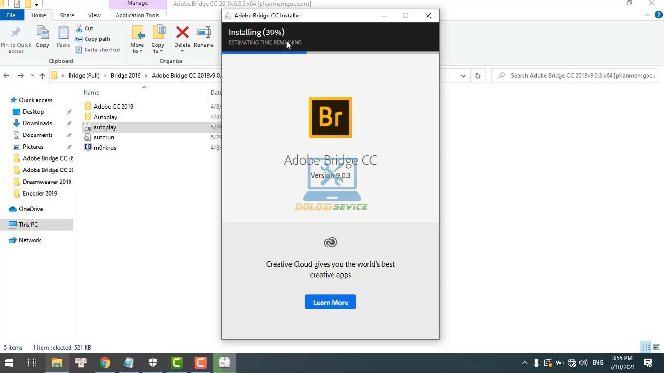 Đợi phần mềm Bridge 2019 Full Crack cài đặt hoàn tất