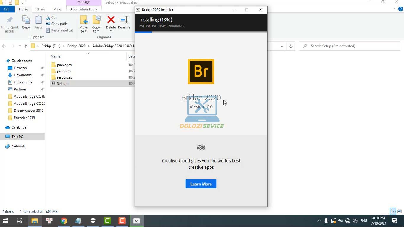 Đợi phần mềm Bridge 2020 Full Crack cài đặt hoàn tất