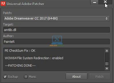 Kích hoạt bản quyền thành công Dreamweaver 2017 Full Crack