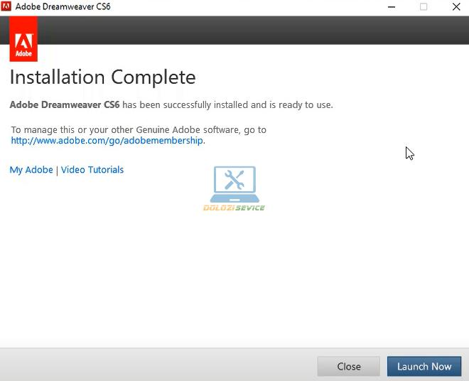 Hoàn tất cài đặt phần mềm Dreamweaver CS6 Full Crack