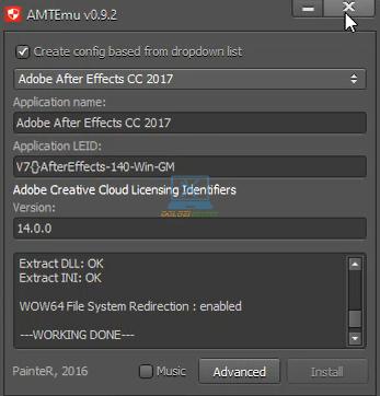 Kích hoạt bản quyền thành công After Effects 2017 Full Crack