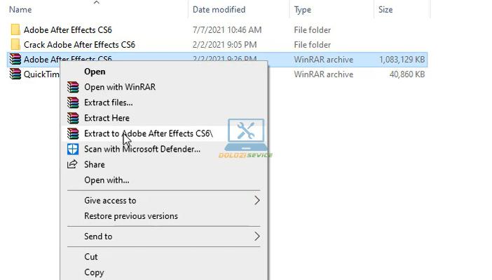 Giải nén phần mềm After Effects CS6 Full Crack