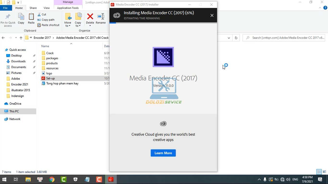 Đợi phần mềm Encoder 2017 Full Crack cài đặt hoàn tất