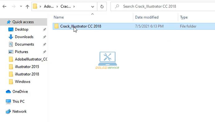 Mở thư mục chứa File kích hoạt bản quyền