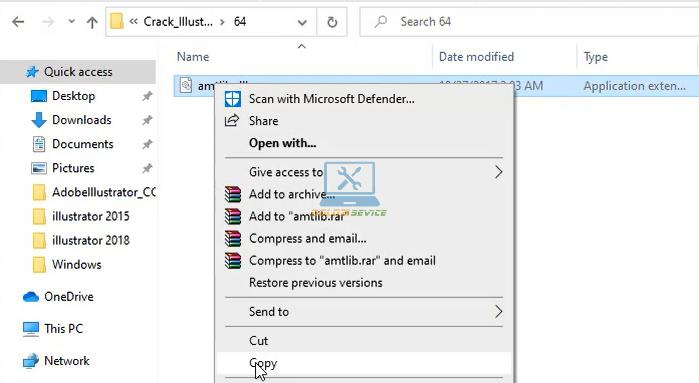 Tiến hàn Copy File kích hoạt bản quyền