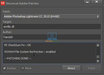 Kích hoạt bản quyền thành công Lightroom CS6 Full Crack