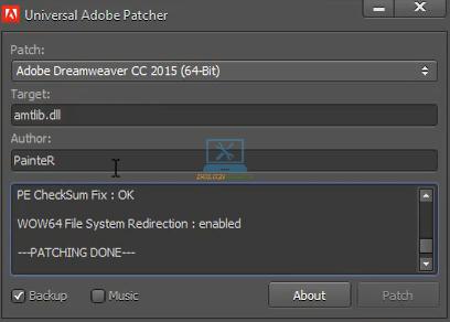 Kích hoạt thành công Dreamweaver 2015 Full Crack