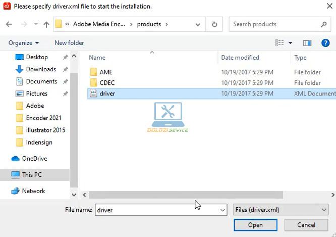 Chọn File Drive