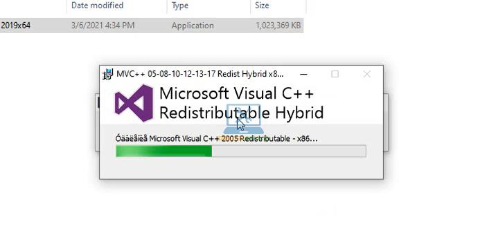 Visua C++ đang được cài đặt