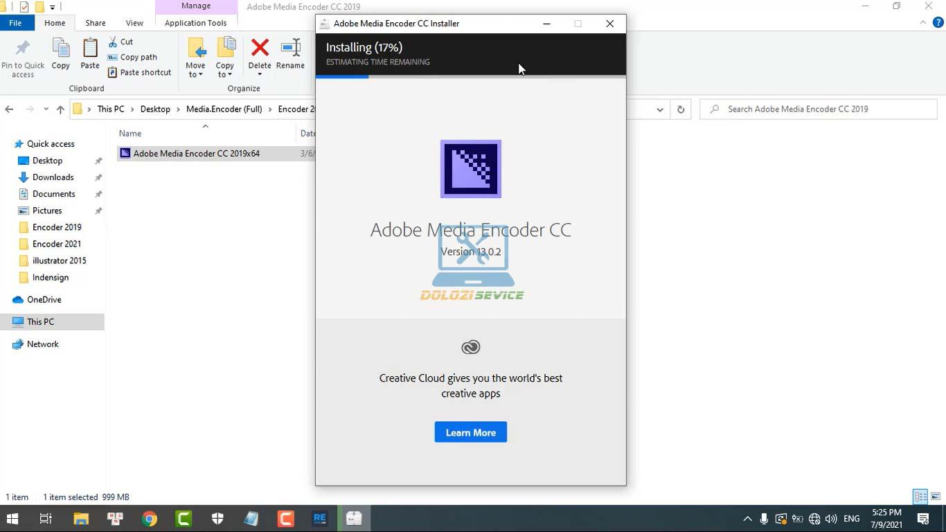 Đợi Encoder 2019 cài đặt hoàn tất