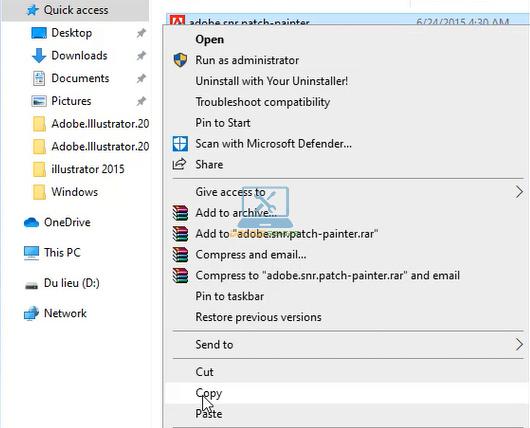 Copy phần mềm kích hoạt bản quyền