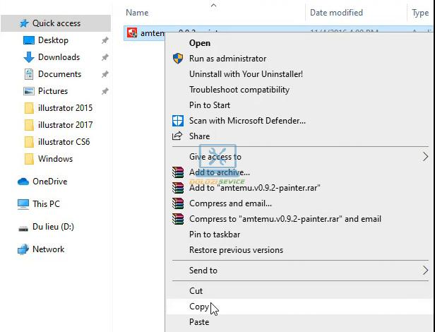 Copy File kích hoạt bản quyền