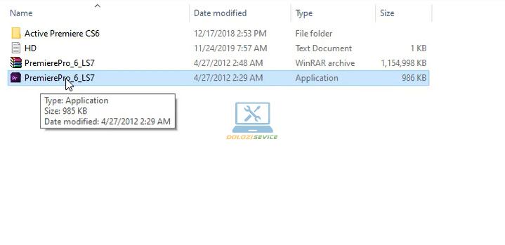 Chạy File cài đặt phần mềm Premiere CS6