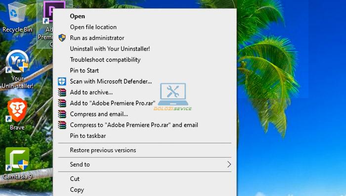 Mở thư mục cài đặt Premiere CS6