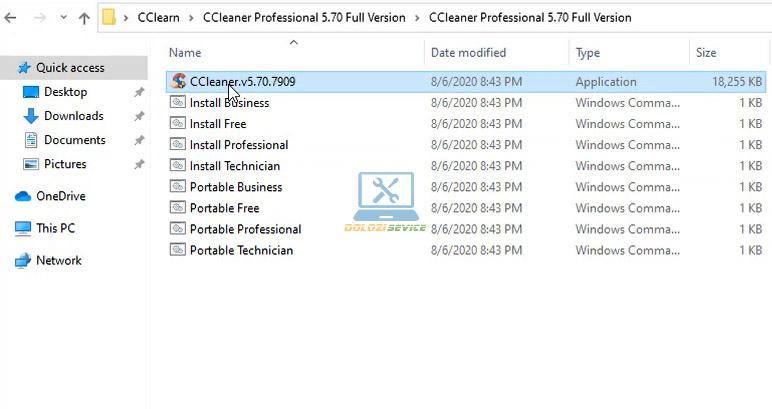 Chạy File cài đặt ccleaner 2021 Full Crack