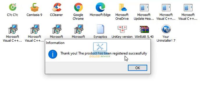 Hoàn tất cài đặt Your Uninstaller 7.5 Full Crack